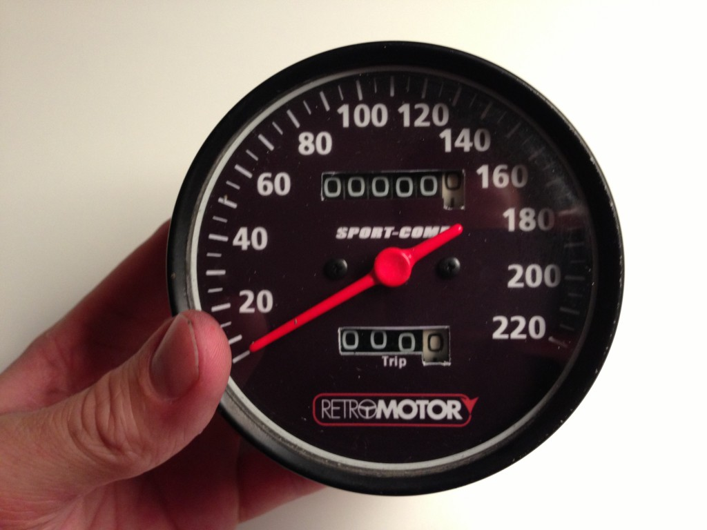 Modificeret speedometer